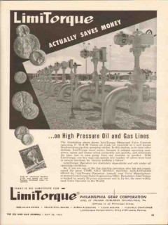 Philadelphia Gear Corp 1962 Vintage Ad Oil Limitorque High Pressure