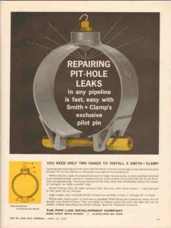 Pipe Line Development Company 1962 Vintage Ad Repairing Leaks Pipeline