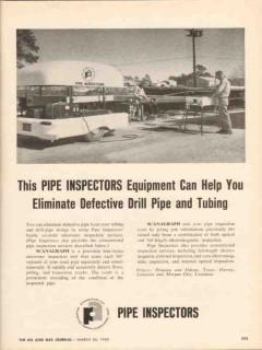 Plastic Applicators Inc 1962 Vintage Ad Oil Pipe Inspectors Equipment