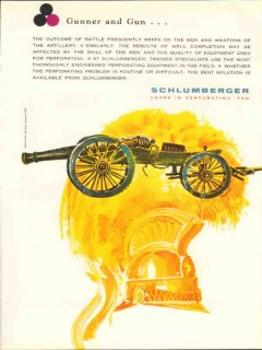 Schlumberger 1962 Vintage Ad Oil Gunner Well Completion Perforating