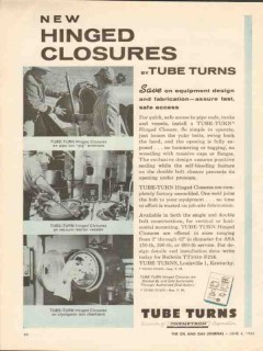 Chemetron Corp 1962 Vintage Ad Oil Tube Turn Hinged Closures Access
