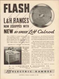 a j lindemann hoverson company 1936 flash calrod lh ranges vintage ad