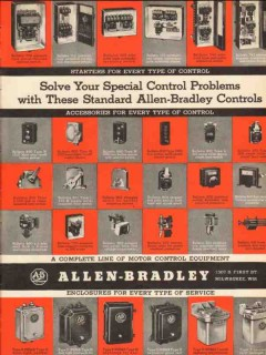 allen-bradley company 1936 special control problem switches vintage ad