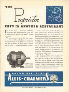 allis-chalmers 1936 proprietor industrial electric motors vintage ad