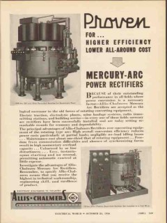 allis-chalmers 1936 mercury-arc power rectifier electrical vintage ad