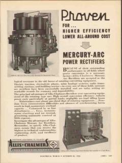 allis-chalmers 1936 mercury-arc power rectifier electrical vintage ad