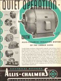allis-chalmers 1936 larger quiet induction electric motors vintage ad