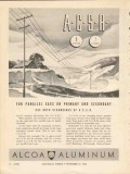 aluminum company of america 1936 acsr parallel sags primary vintage ad