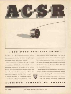 aluminum company of america 1936 acsr explains power cable vintage ad