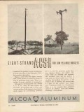 aluminum company of america 1936 acsr 8-strand budget cable vintage ad