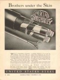 american steel wire company 1936 brothers skin cables vintage ad