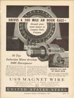 american steel wire company 1936 langley field virginia vintage ad