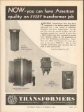 american transformer company 1936 now ameritan quality job vintage ad