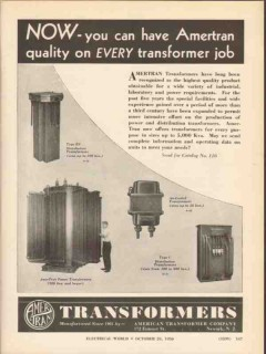 american transformer company 1936 now ameritan quality job vintage ad