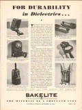 bakelite corp 1936 durability dielectrics electrical vintage ad