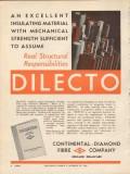 continental-diamond fibre company 1936 dilecto insulating vintage ad