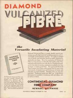 continental-diamond fibre company 1936 vulcanized insulator vintage ad