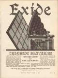 electric storage battery co 1936 exide chloride batteries vintage ad