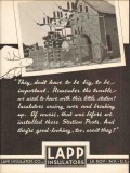 lapp insulator company 1936 important trouble arcing over vintage ad