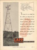 lapp insulator company 1936 greenfield line electric power vintage ad