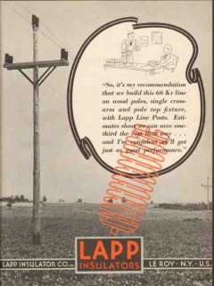 lapp insulator company 1936 recommendation electric power vintage ad