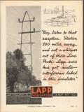 lapp insulator company 1936 radio reception line posts vintage ad