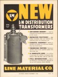 line material company 1936 type la distribution transformer vintage ad