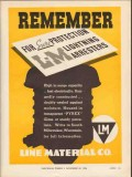 line material company 1936 remember lightning arresters vintage ad