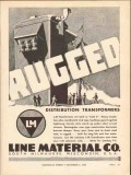 line material company 1936 rugged distribution transformers vintage ad