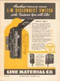 line material company 1936 l-m porcelain disconnect switch vintage ad
