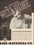 line material company 1936 well done electric transformers vintage ad