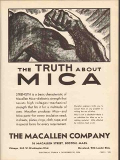 macallen company 1936 truth about mica strength dielectric vintage ad