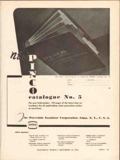 porcelain insulator corp 1936 pinco catalog electric power vintage ad