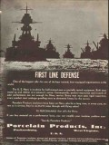 porcelain products inc 1936 first line defense electrical vintage ad