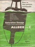 a h robins company 1959 allbee c saturation dosage medical vintage ad