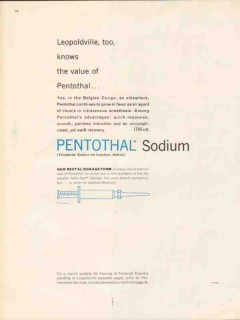 abbott laboratories 1959 pentothal sodium value medical vintage ad