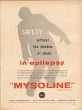 ayerst laboratories 1959 mysoline safety epilepsy medical vintage ad
