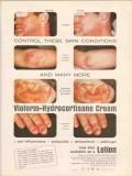 ciba 1959 vioform-hydrocortisone cream lotion skin medical vintage ad