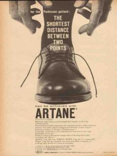 lederle laboratories 1959 artane parkinson distance medical vintage ad