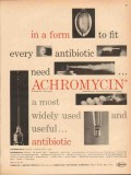 lederle laboratories 1959 achromycin antibiotic medical vintage ad