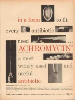 lederle laboratories 1959 achromycin antibiotic medical vintage ad