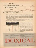 lloyd brothers 1959 doxical fecal softener chemical medical vintage ad