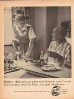 pepsi cola 1959 patients perk up light refreshment medical vintage ad