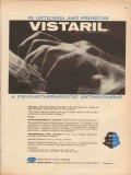 pfizer laboratories 1959 vistaril antihisamine skin medical vintage ad