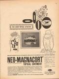 pfizer laboratories 1959 neo-magnacort itch burning medical vintage ad