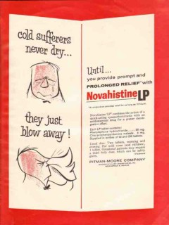 pitman-moore company 1959 novahistine cold suffers medical vintage ad