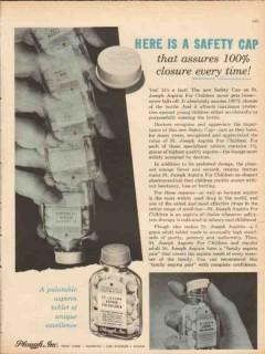 plough inc 1959 st joseph aspirin child safety cap medical vintage ad