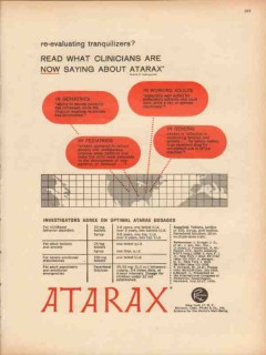 j b roerig 1959 atarax tranquilizers pfizer company medical vintage ad
