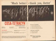 pfizer laboratories 1959 cosa-tetracyn much better medical vintage ad