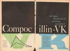 abbott laboratories 1959 compocillin-vk penicillin medical vintage ad
